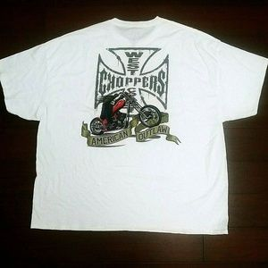 West Coast Choppers T Shirt American Outlaw 4XL
